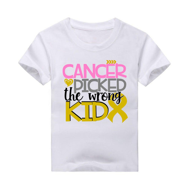 Cancer Picked the Wrong Kid T-Shirt, Cancer Awareness