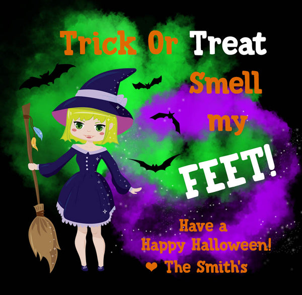 Trick Or Treat Smell My Feet Gift Tags