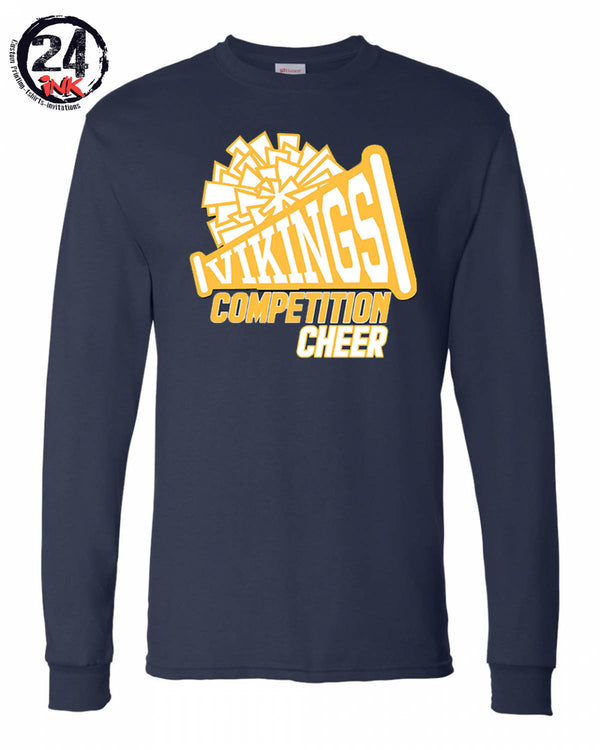 Vernon Cheer Design 1 Long Sleeve, NAVY