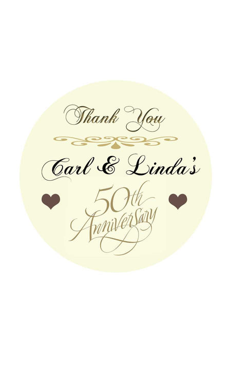 50th Anniversary Gift Tags