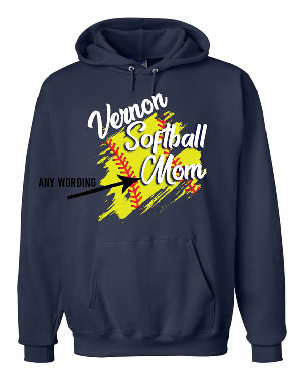 Vernon softball mom Sweatshirt
