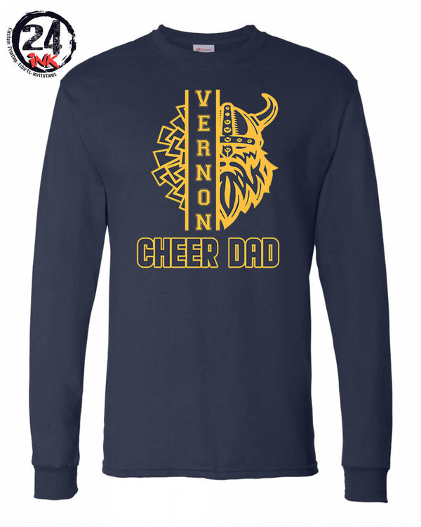 Vernon Cheer Design 3 Long Sleeve, NAVY