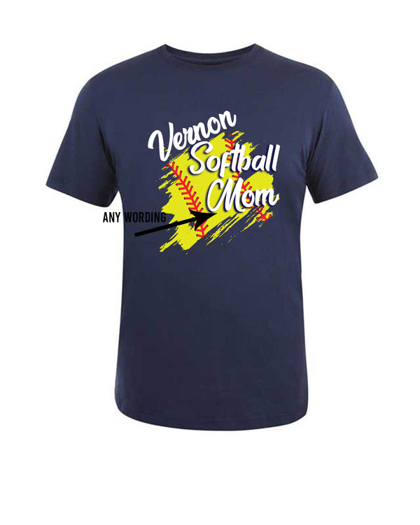 Vernon Softball Mom T-shirt