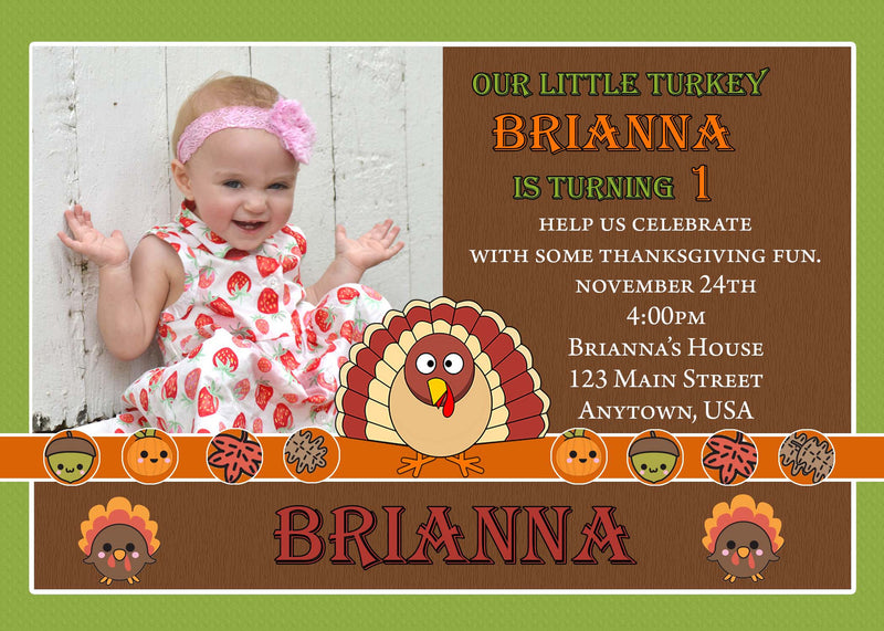 Turkey Birthday Invitation