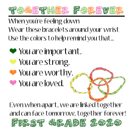 Together Forever Gift Tags, Bracelets