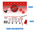 Casino Candy Bar Wrappers