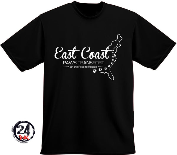 East Coast Paws Transport T-Shirt