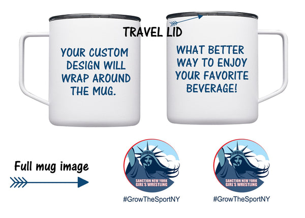 Sanction NY Travel Mug, Mugs, Wrestling