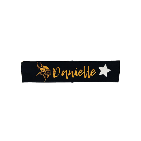 Personalized Cedar Mountain School Spirit Headband design 1