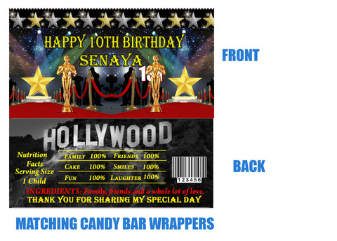 Hollywood Candy Bar Wrappers