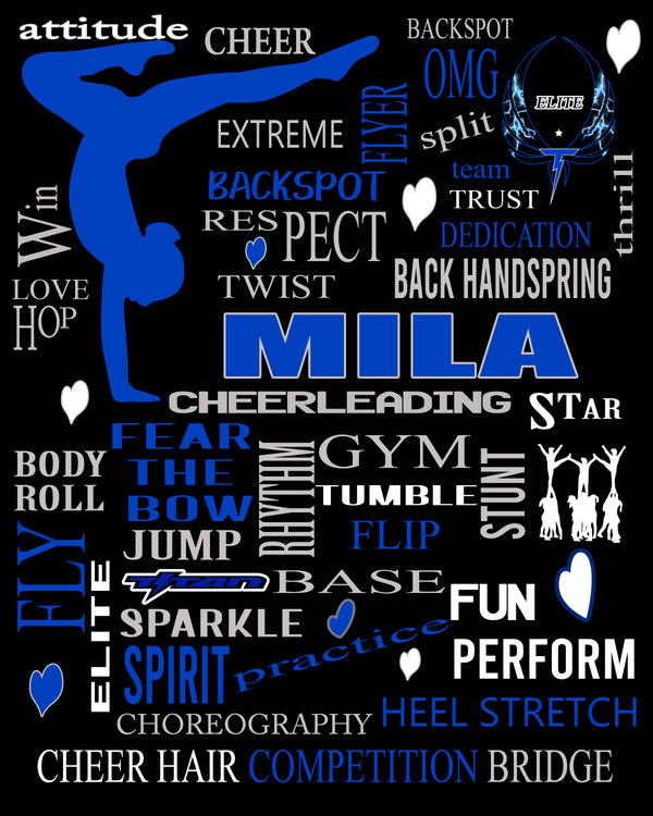 Personalized Cheer Poster