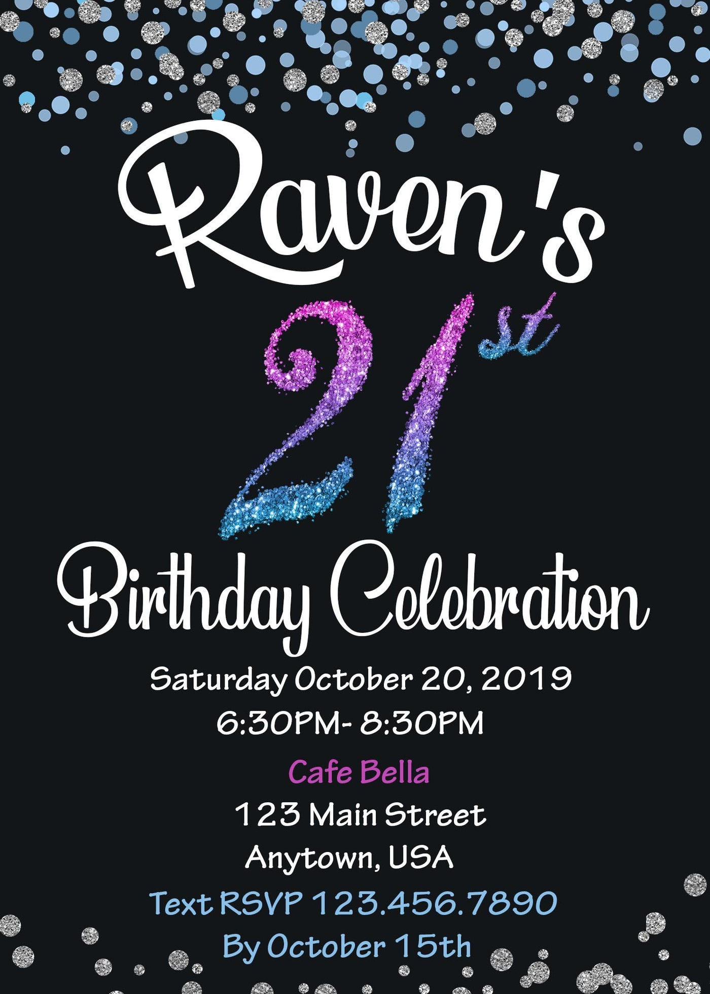 21st Birthday Invitation 24 Ink