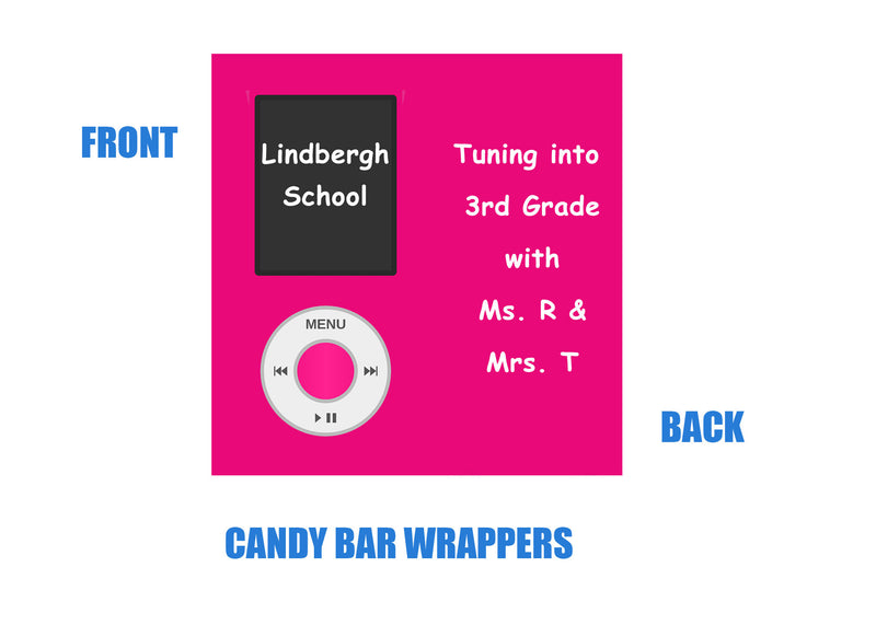 Ipod candy bar wrappers