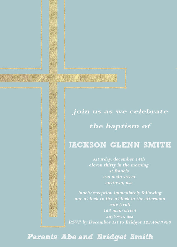 Cross Baptism Invitation