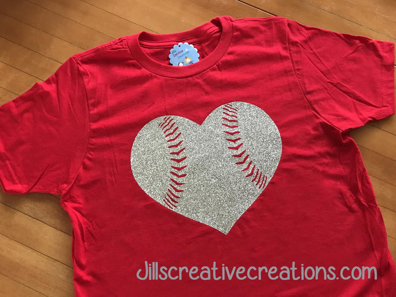 Baseball/Softball Glitter T-Shirt