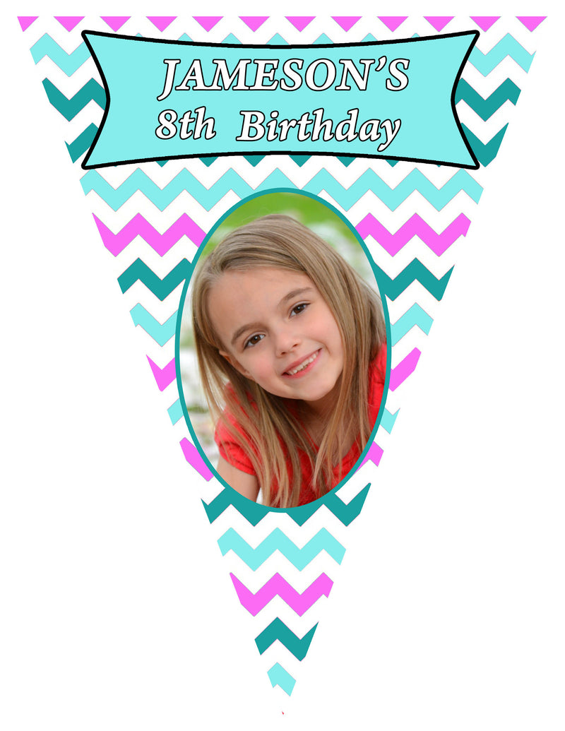 Chevron Birthday Banner
