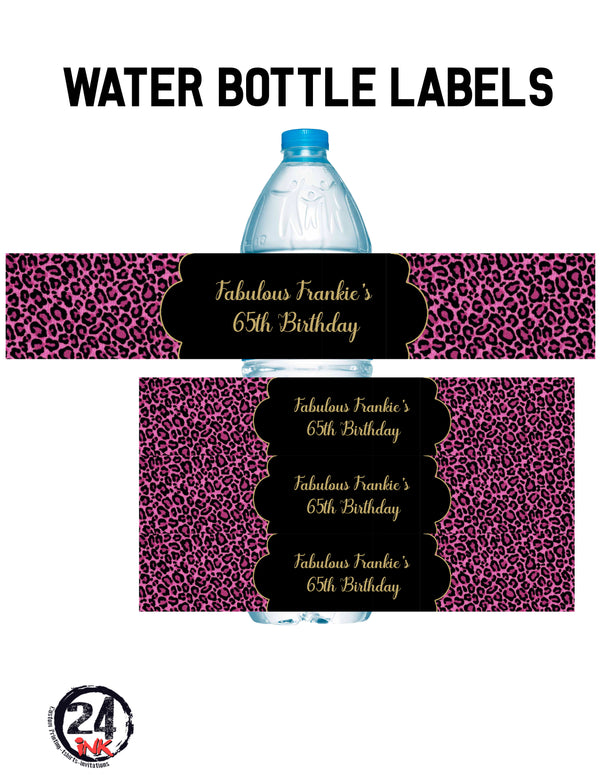Cheetah water bottle labels