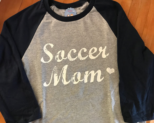 Soccer Mom Raglan Shirt
