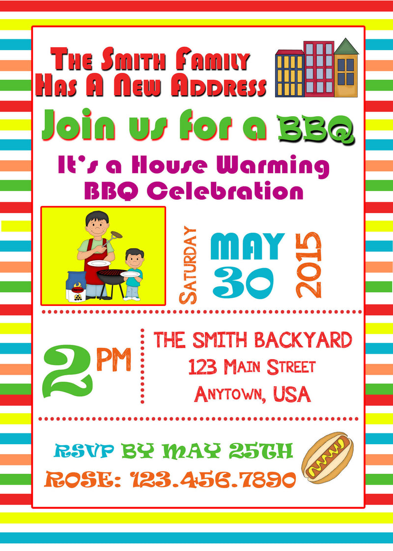 House Warming Birthday Invitation