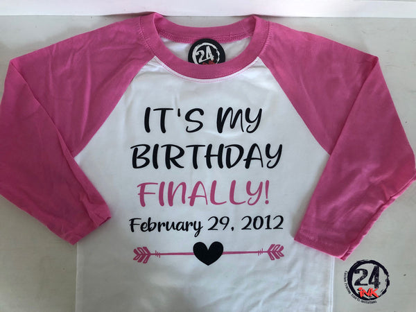 Leap year Birthday Shirt