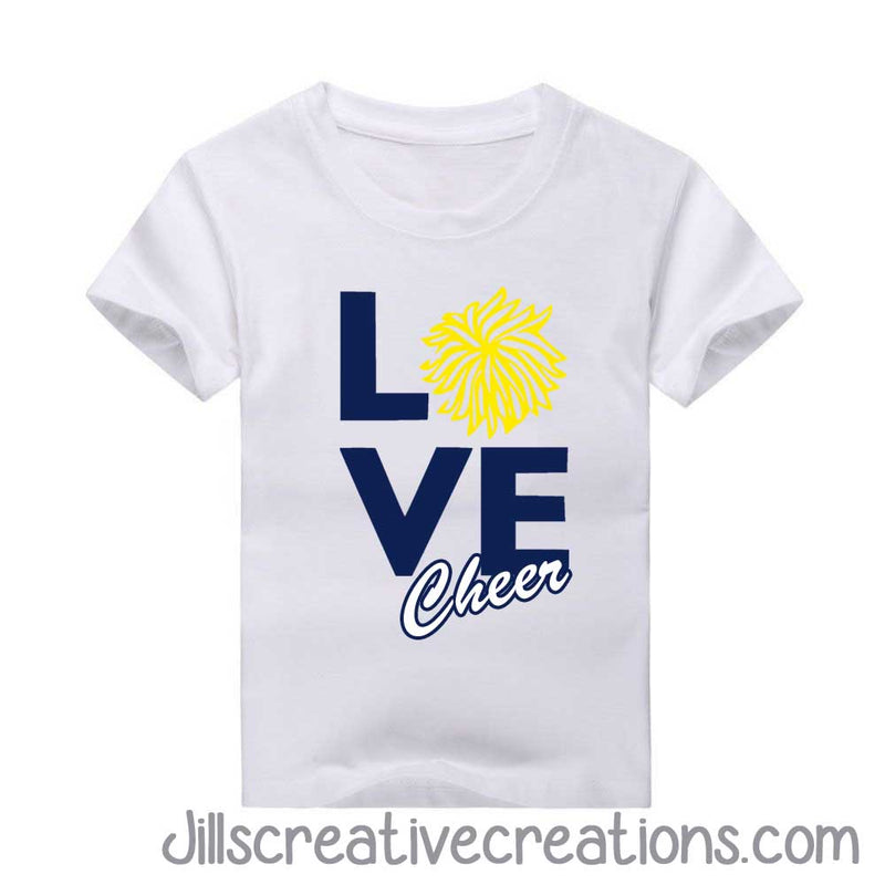 Love cheer t-shirt, Cheerleading