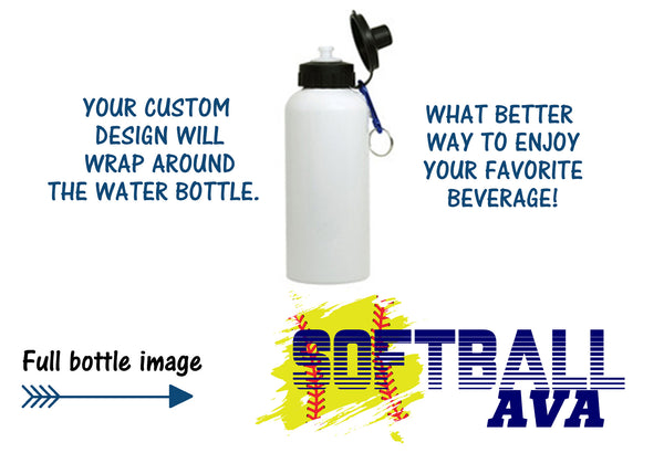 Vernon Girls Softball Water Bottle