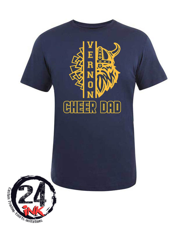 Vernon Cheer Design 3 t-shirt, NAVY