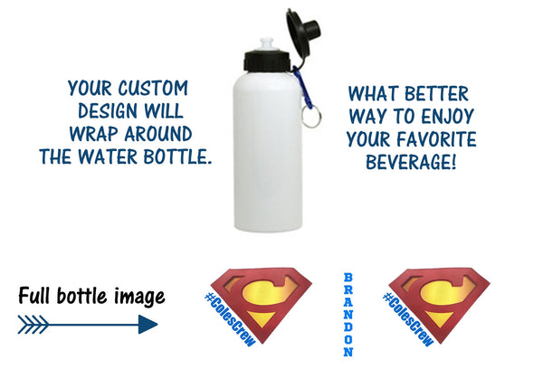 Cole's Crew Personalized Water Bottle