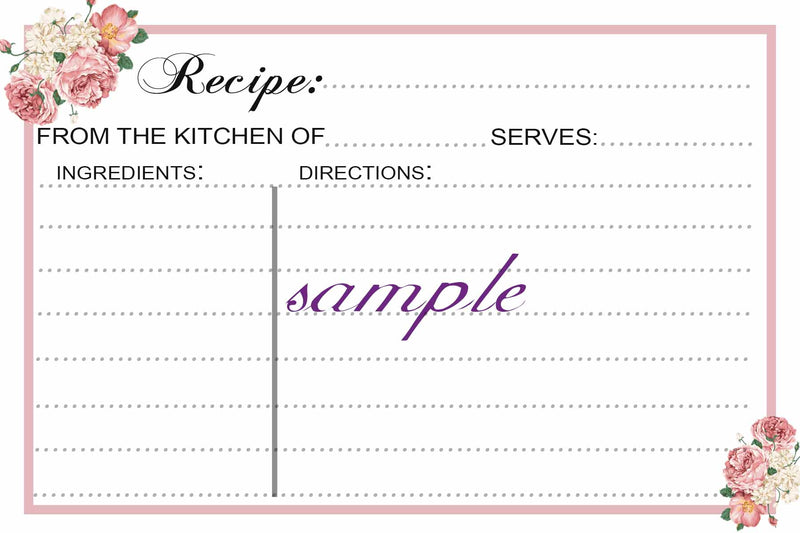 Recipe Cards, Bridal Shower