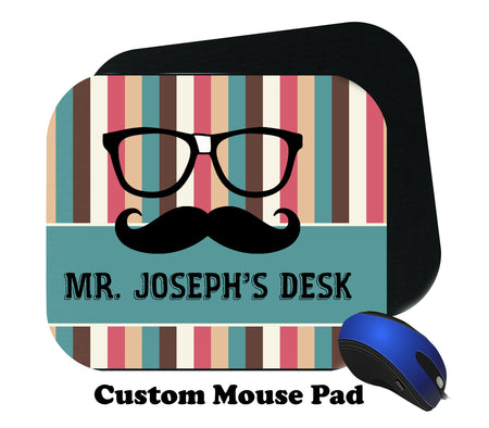 Glasses and Mustache Mousepad