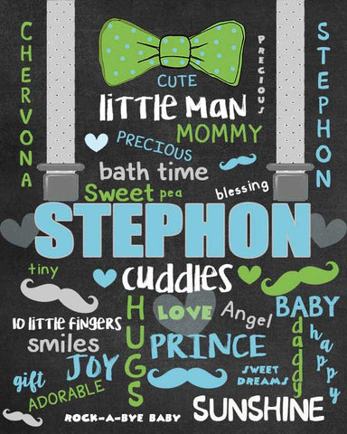 Baby Chalkboard Poster