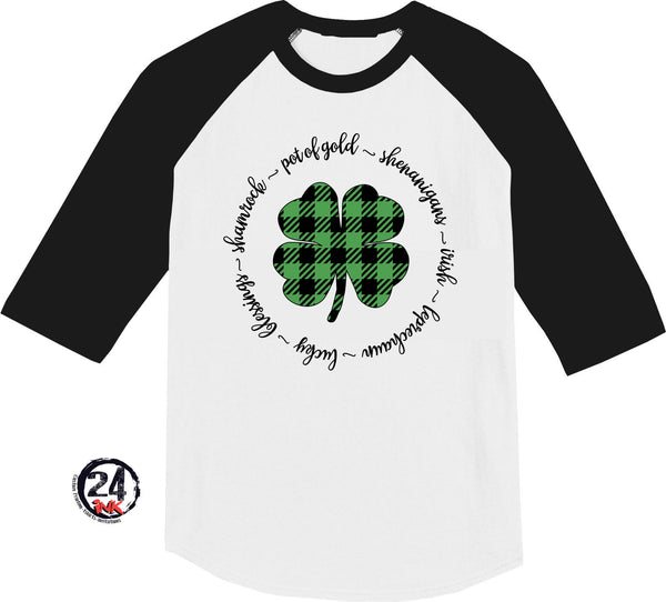 St. Patrick's Day Plaid raglan shirt