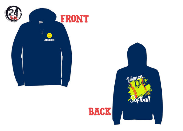Vernon Girls Softball  Zip up