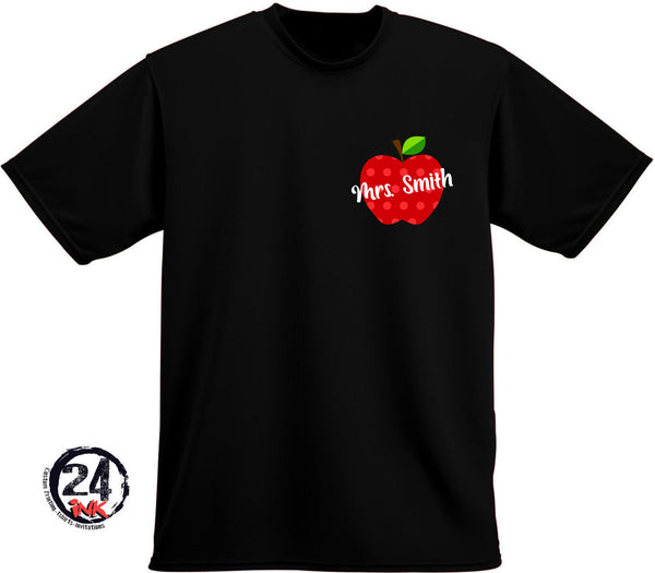 Personalized Apple Teacher T-shirt