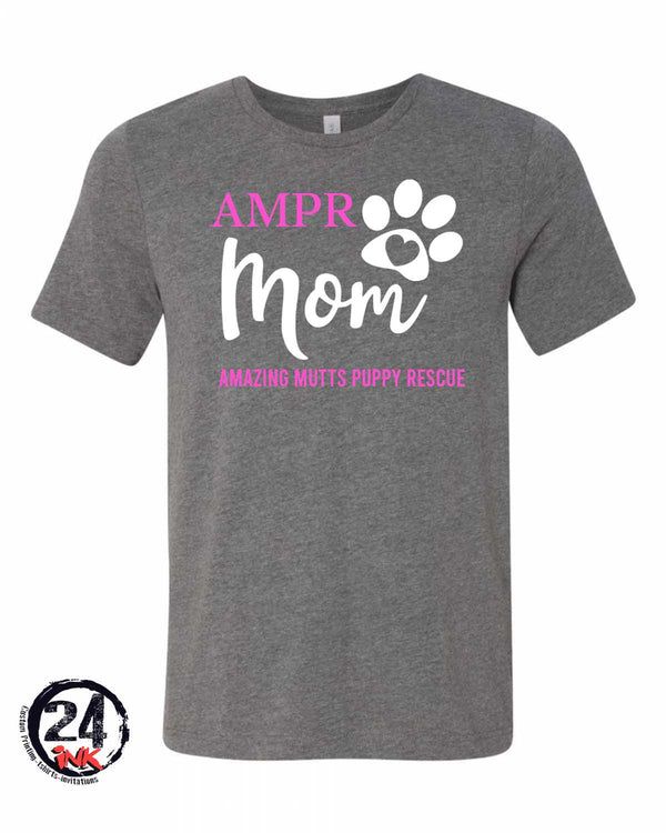 AMPR Dog  Paw Print Mom Shirt