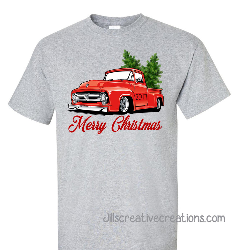 Christmas Trees in a pickup T-shirt, Christmas, Trucks