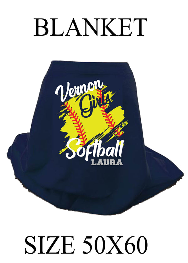 Vernon Girls Softball Blanket
