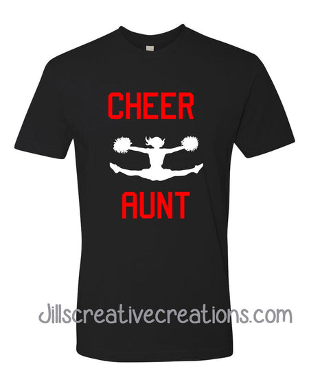Cheer Aunt T-shirt, School Spirit, cheer leading