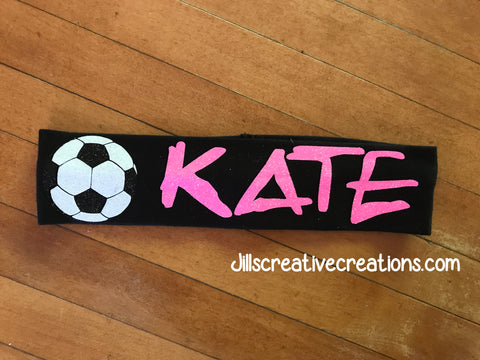 Glitter Personalized Soccer Headband