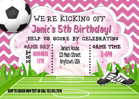 Soccer Birthday Invitation