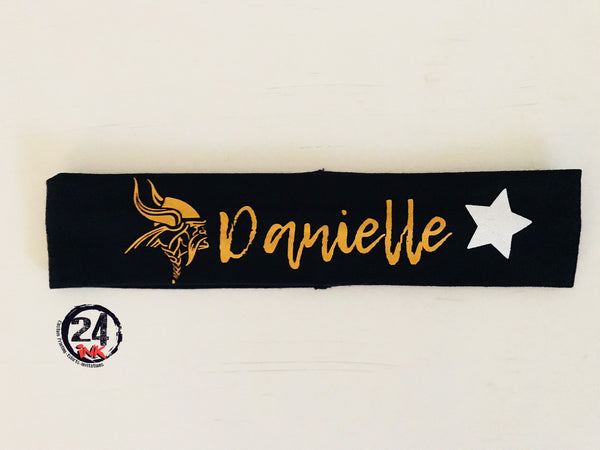 Personalized School Spirit Headband. Lacrosse