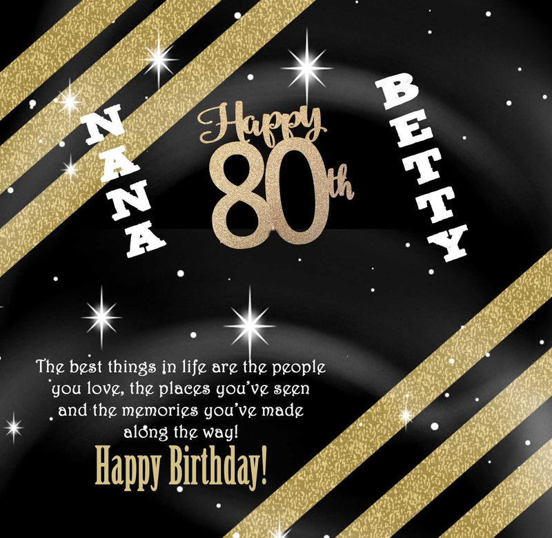80th Birthday Candy Bar Wrappers