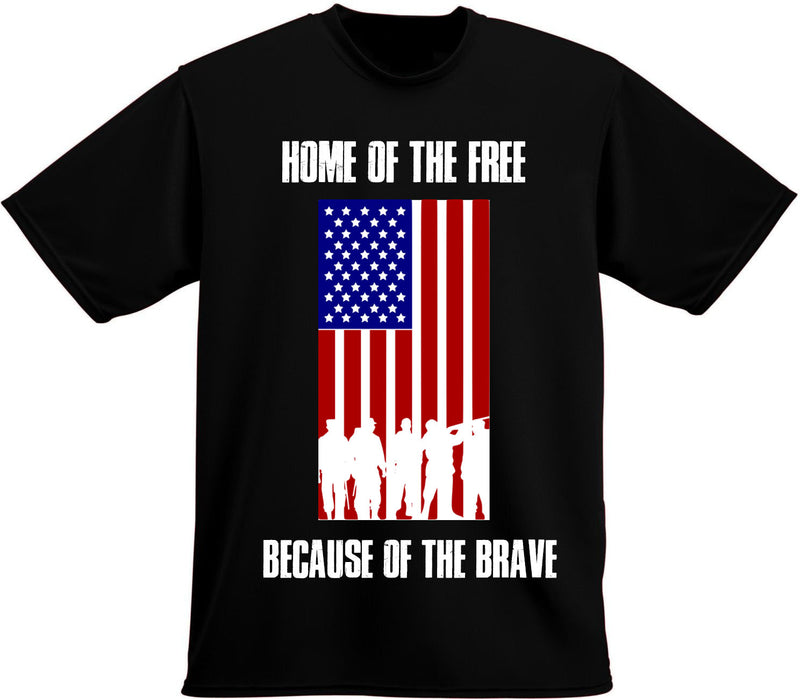 Home of the free because of the brave T-shirt, Military