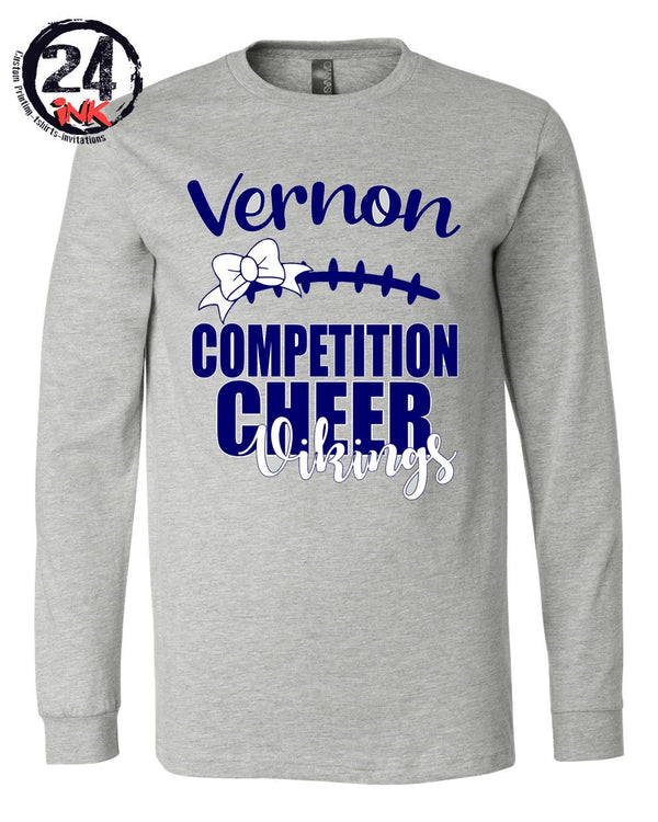 Comp Cheer 2019 Gray long sleeve shirt