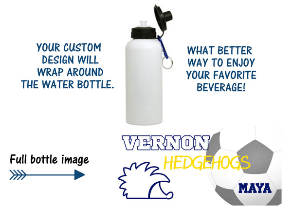Hedgehog Soccer Water Bottle