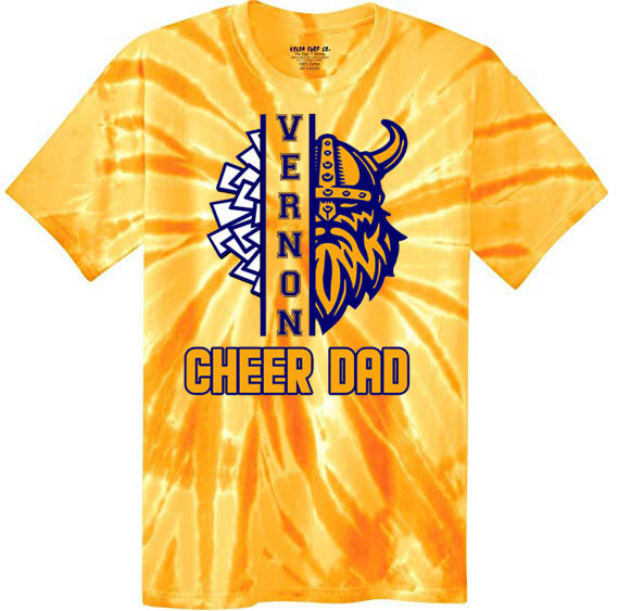 Tie Dye Viking Cheer Shirt, DESIGN 3
