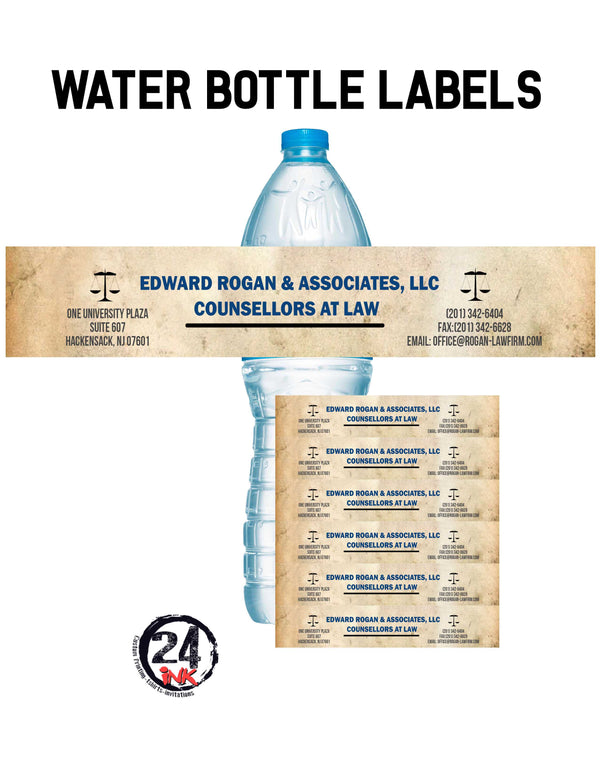 Lawyer Water Bottle Labels