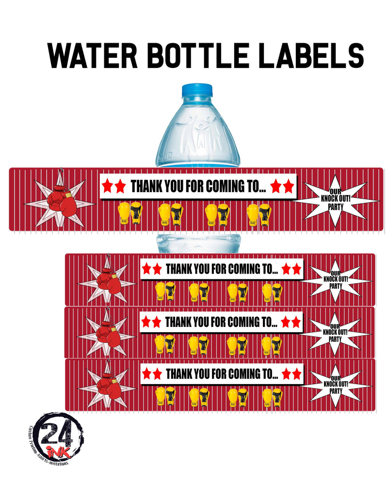 Boxing Water Bottle Labels