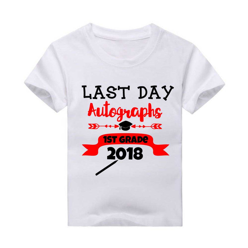 Last Day of School Autographs T-Shirt, Red