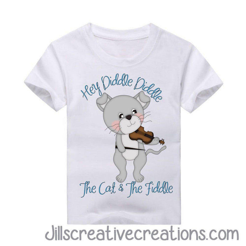 Hey Diddle Diddle T-Shirt, Nursery Rhymes